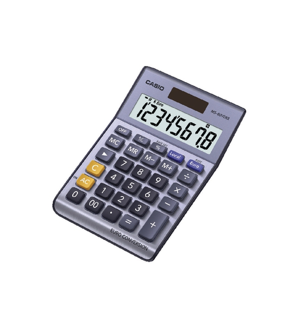 CS 8-digit Currency Calc. Silver