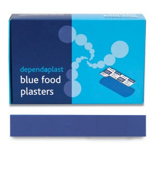Dependaplast Blue Food Finger Extension Plasters Sterile