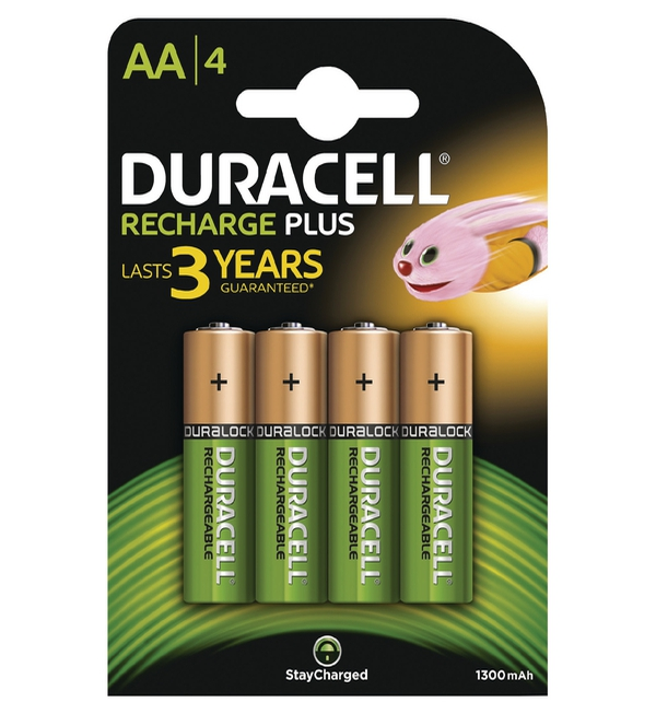 Duracell® Stay Charged Entry Battery AA, 1300MaH