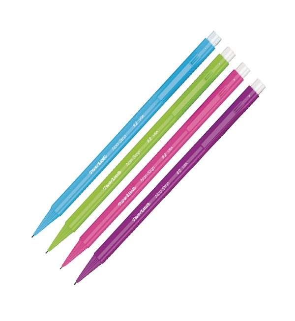 Papermate Automatic Pencil Non-Stop Neon Assorted Blister 1906122