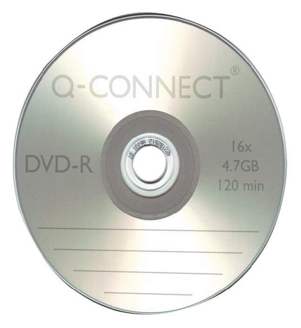 Q-Connect® DVD-R Slimline Jewel Case 4.7GB KF34356