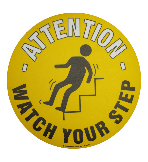 Watch Your Step - Graphic Floor Marker