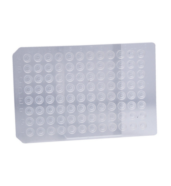 Thin Cut Silicone 96 Round Well Mat Microplate Cover with Sprayed-On PTFE Barrier, Ethylene Vinyl A