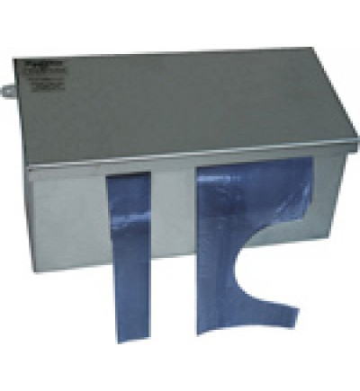 Disposable Aprons Stainless Steel Dispenser with Hinged Lid, 410mm x 160mm x 220mm