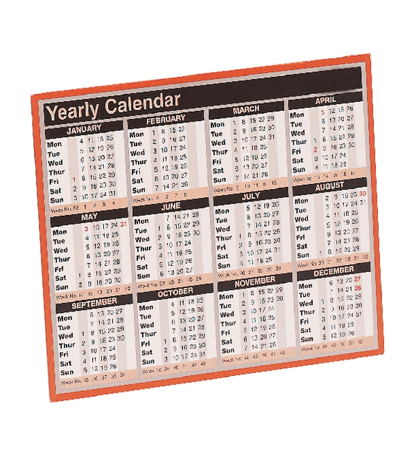 year to view calendar 2019 257mm x 210mm