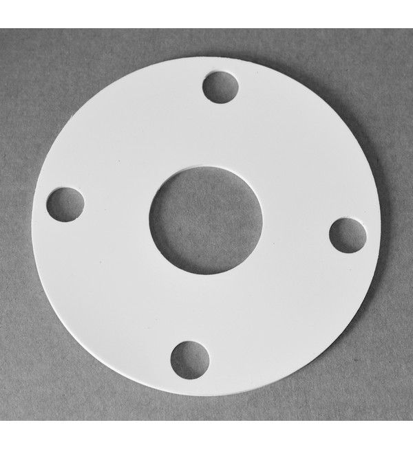 White Silicone Rubber Gasket, 147mm x 48mm