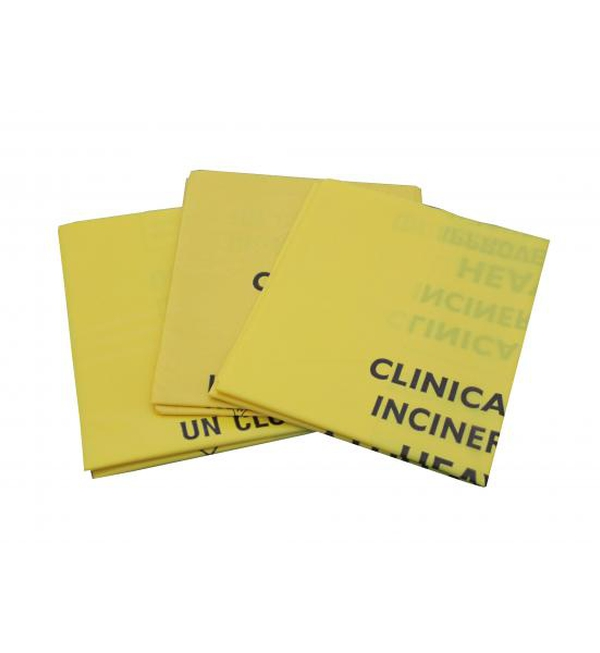 Clinical Waste Sacks 8kg, Yellow, 28