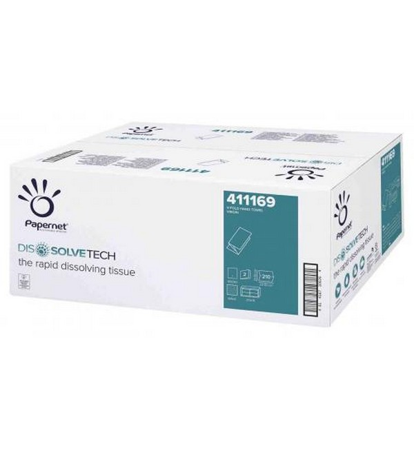 Paper Towel Dissolve-Flushy Single Fold, White