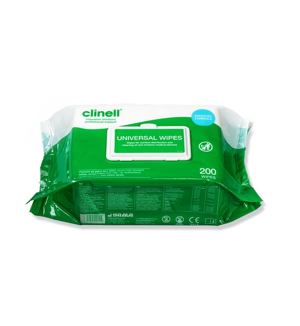 Clinell® Universal Wipes, Pack of 200