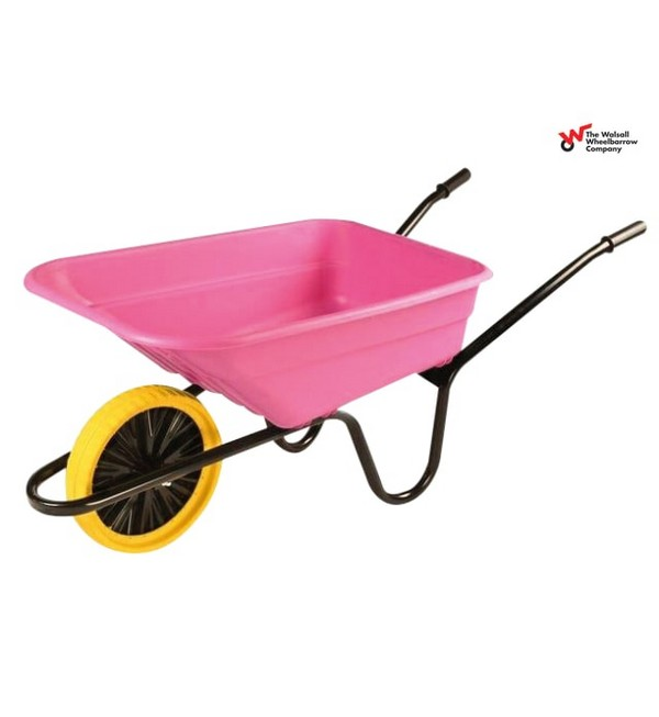 Walsall Boxed Polypropylene Wheelbarrow, Puncture Proof Wheel, 90L