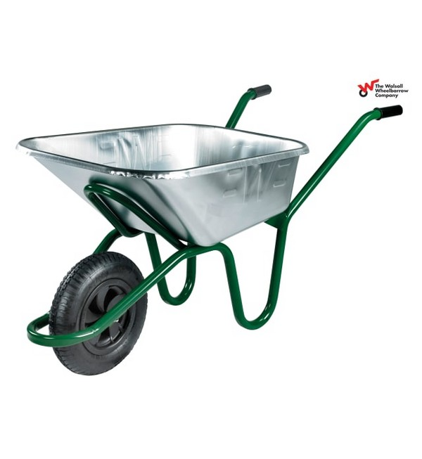 Walsall Invincible Wheelbarrow, Galvanised, 120L