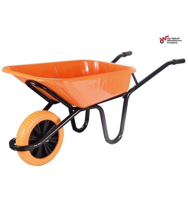 Walsall Extra Heavy-Duty XL Workhorse Wheelbarrow - Puncture Proof, 90L