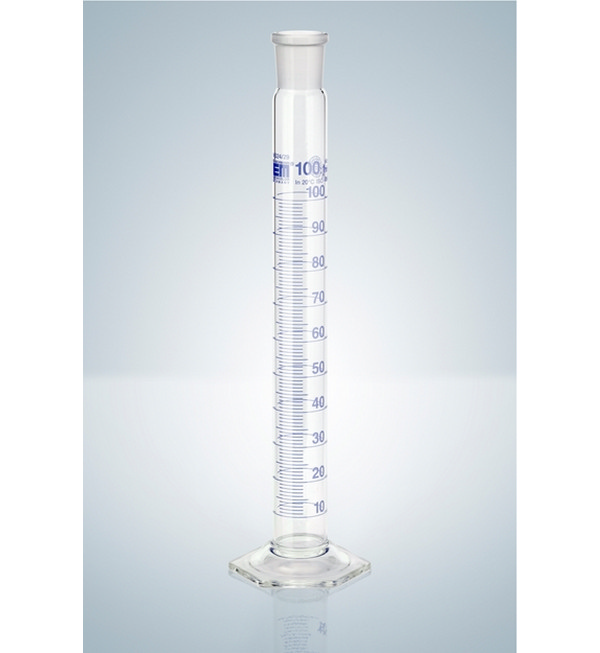 Hirschmann™ Class A Measuring Cylinders with NS Ground and Poly Stopper, 100ml