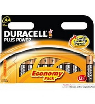 Duracell® Plus Power® MN1500 Batteries Alkaline, 1.5V AA, Pk/12