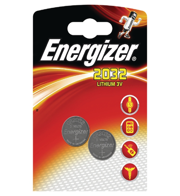 Energizer Special Lithium Battery 2032/CR2032, Pack of 2