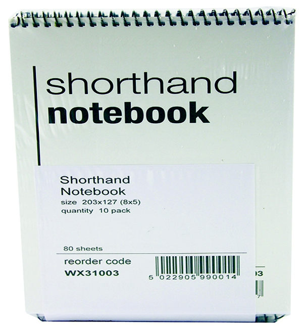 Shorthand Spiral Notebook, 80 Leafs