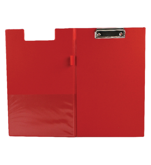 Q-Connect® PVC Clipboard Foldover Red