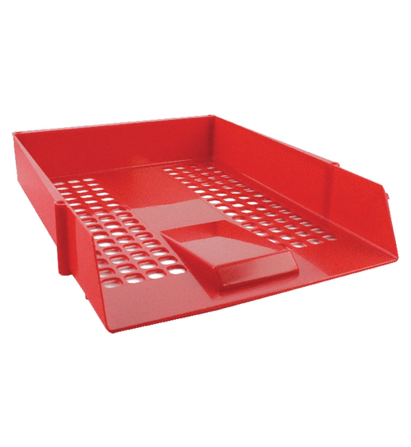 Q-Connect® LetterTray Plastic Red