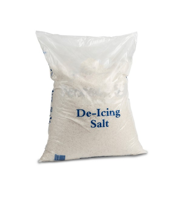 20kg Poly Bags of White De-Icing Salt