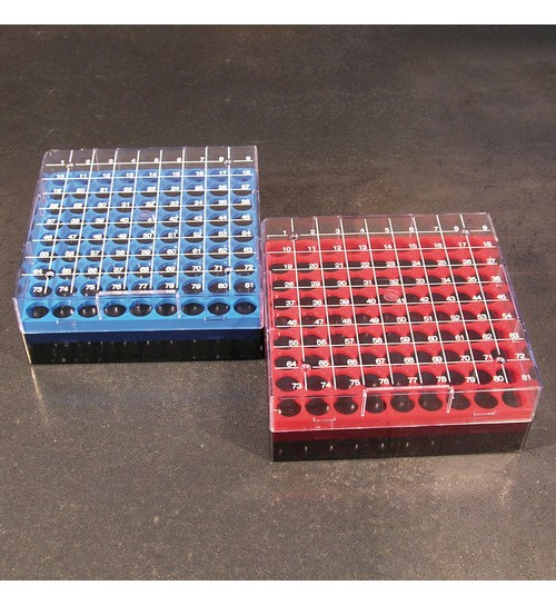 Cryotube Box 132 x 132 x 52mm Red