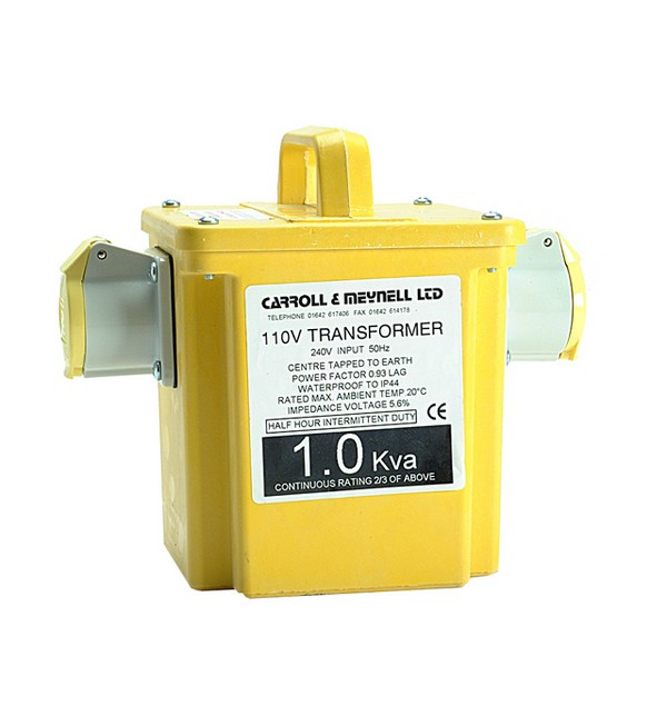 Carroll & Meynell 1000/2 Twin Outlet Transformer 1Kva  CM1000