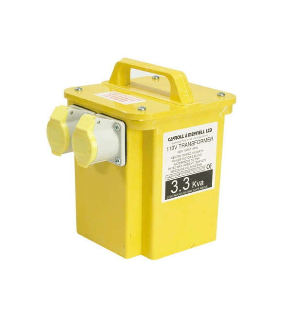 Carroll & Meynell 3300/2 Twin Outlet Transformer 3.3 Kva
