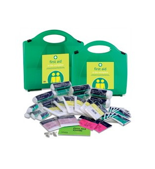 HSE 10 Person Workplace Kit in Green Aura Box
