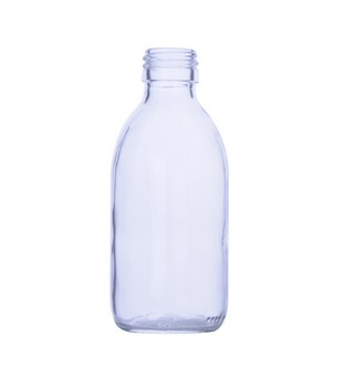 Transparent Glass Sirop Bottle, 60ml