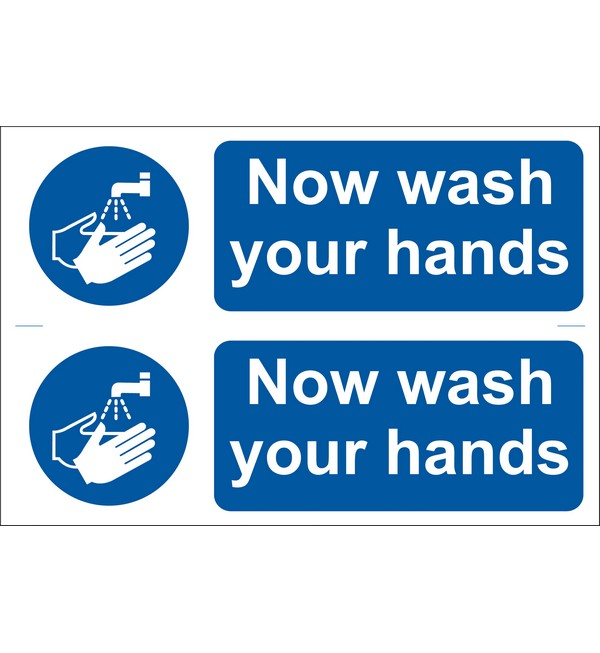 Draper® 2 x 'Wash Your Hands' Mandatory Sign