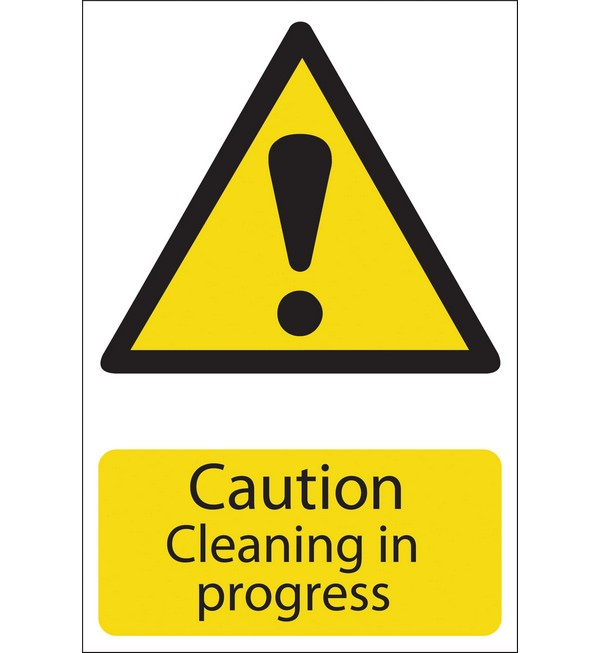 Draper® 'Caution Cleaning' Hazard Sign