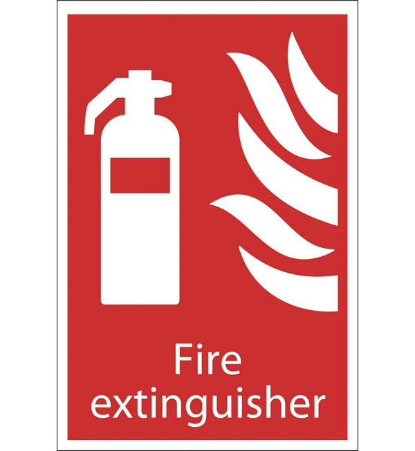 Draper® 'Fire Extinguisher' Fire Equipment Sign