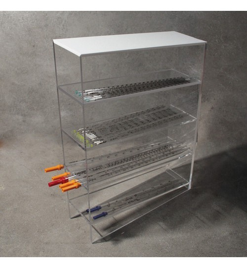 Bench Pipettes Holder in PMMA, 4 Shelves
