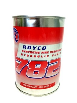 Royco® 782™ Fire Resistant Synthetic Hydraulic Fluid, 3.78 Litres